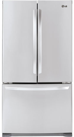 LG - 20.7 Cu. Ft. Counter-Depth French Door Refrigerator - Stainless-Steel