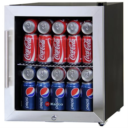 Kegco CBC-101-SSC 58 Can Beverage Center – Stainless Steel Trim Door w/ Lock