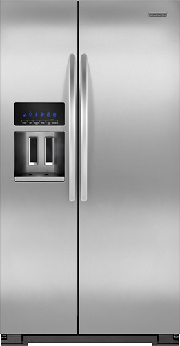 kitchenaid sidebyside with thruthedoor ice and water 222 cu ft