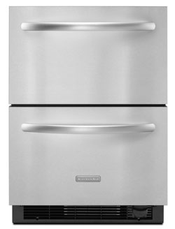 KitchenAid - Architect Series II 4.8 Cu. Ft. Built-In Double Drawer Refrigerator