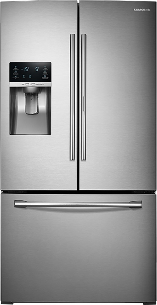 door pl maker with refrigerators refrigerator french dual resisitant ice fingerprint cu com at shop lowes samsung ft steel stainless doors appliances