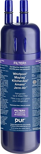 Whirlpool - Filter1 Interior Push Button Water Filter For Select Refrigerators