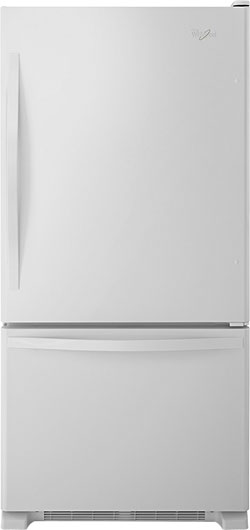 Single Door Bottom Freezer Refrigerator U2013 White