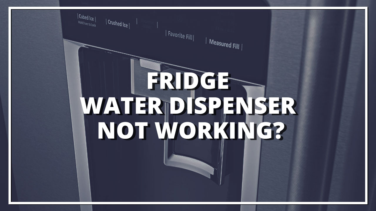 Fridge Water Dispenser Not Working